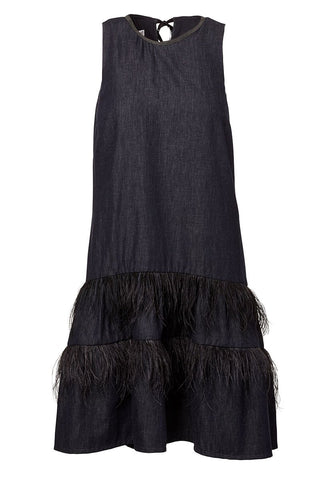 Feather Flounce Dress