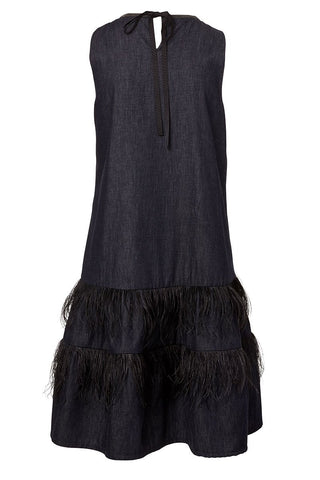 , Feather Flounce Dress