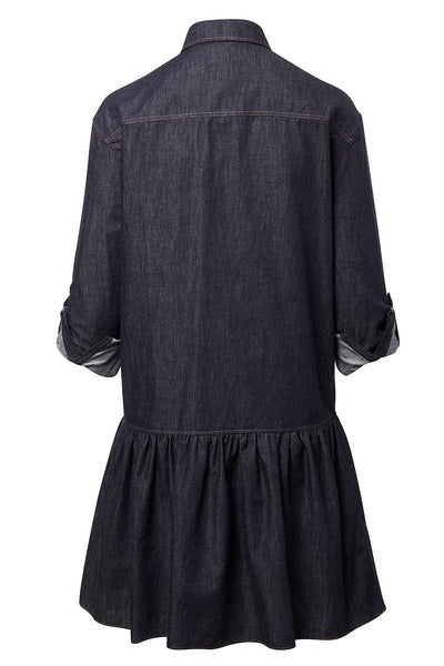 Drop Waist Denim Dress