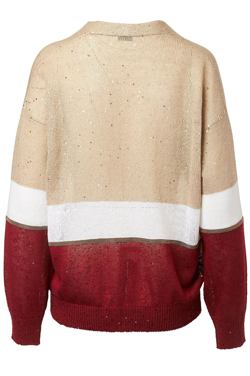 Brunello Cucinelli, Colorblock Cardigan