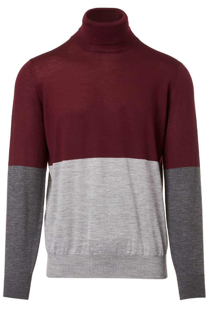 Colorblock Turtleneck Sweater