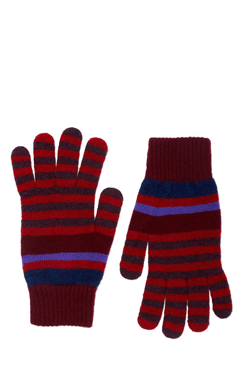 Paul Smith, Striped Knit Gloves