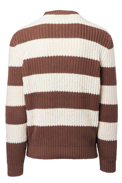 Brunello Cucinelli, Bouclé Stripe Sweater