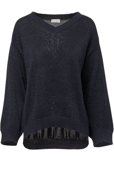 Lurex V-Neck Sweater
