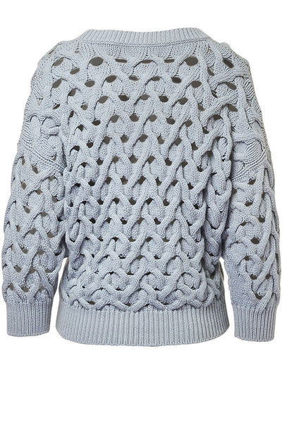 Brunello Cucinelli, Cable Net Sweater