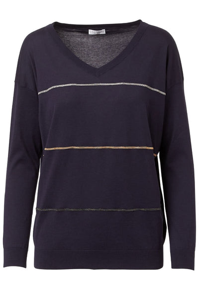 Brunello Cucinelli, Monili Striped Sweater