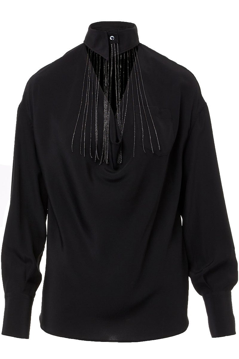 Monili Fringe Blouse