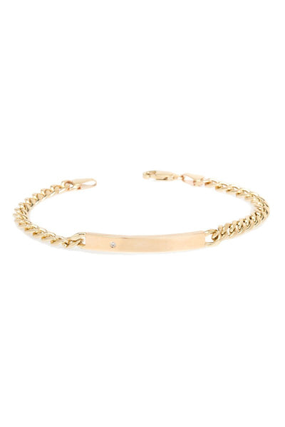 Zoë Chicco, Hollow Curb Chain ID Bracelet
