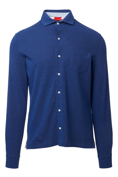 Isaia, Long Sleeve Button Down Polo