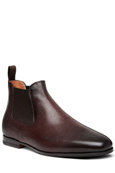 Santoni, Scaled Leather Chelsea Boots