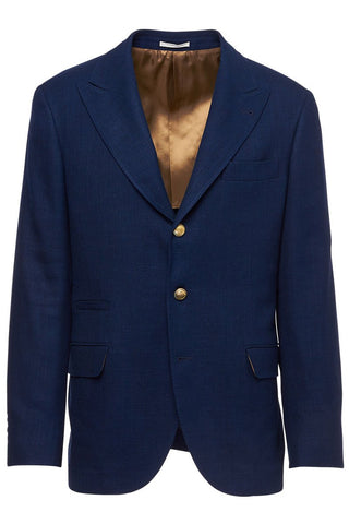 Brunello Cucinelli, Blue Single Breasted Sportcoat