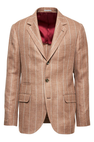 Chalk Stripe Deconstructed Blazer