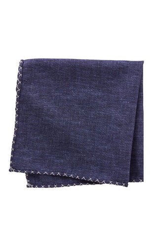Embroidered Edge Pocket Square