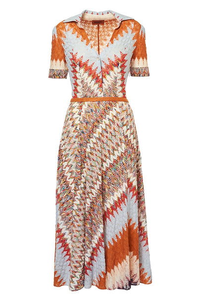 Missoni, Zig Zag Knit Shirt Dress