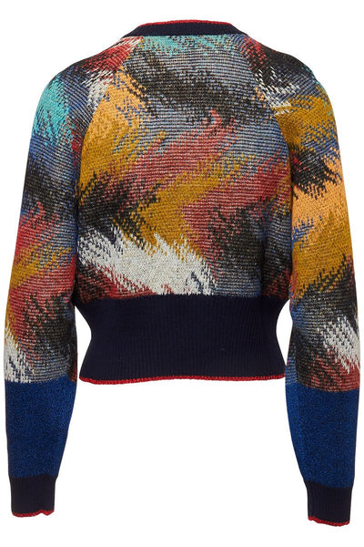 Missoni, Feather Cropped Sweater