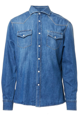 Old Denim Western Shirt