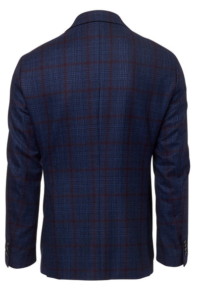 Atelier Munro, Denim Wool Glenplaid Jacket