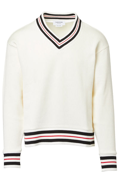 Thom Browne, Striped Rib Sweater