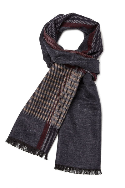 Plaid Colorblock Scarf