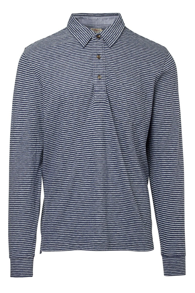Faherty, Luxe Striped Heather Polo