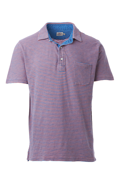 Faherty, Indigo Polo