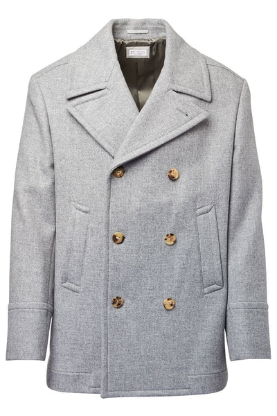 Brunello Cucinelli, Double Breasted Peacoat