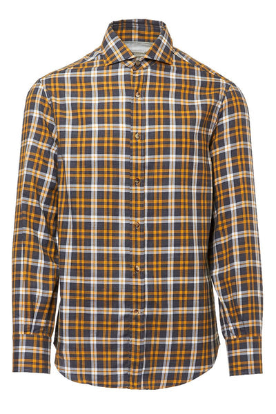 Madras Flannel Western Shirt