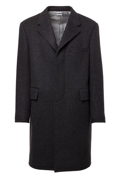 Wide Lapel Chesterfield Coat