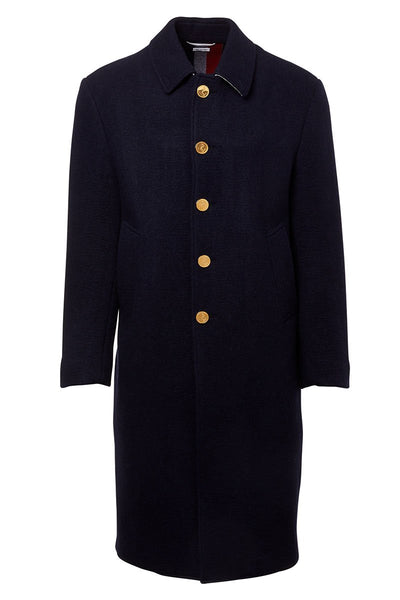 Relaxed Fit Bal Collar Overcoat