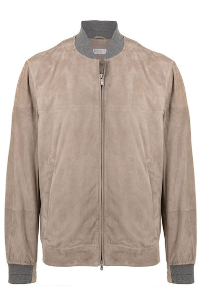 Double Face Suede Bomber Jacket