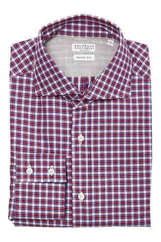 Red Check Twill Sportshirt