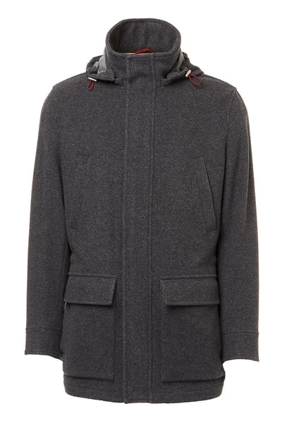 Water-Resistant Cashmere Parka