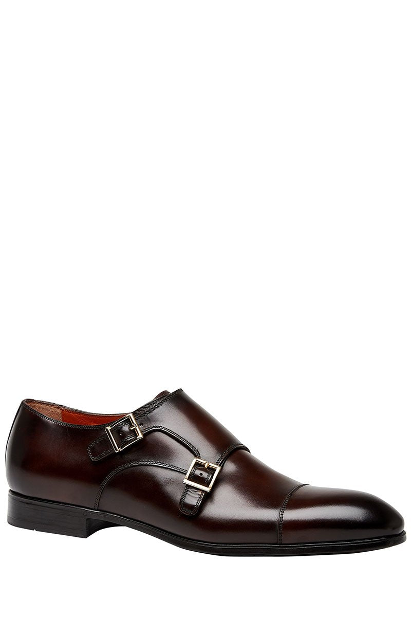 Santoni, Inca Double-Buckle Shoes