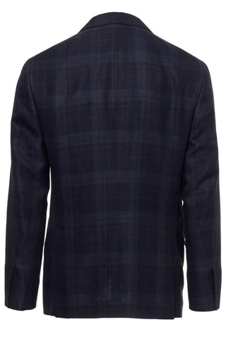 , Linen-Wool Plaid Sportcoat