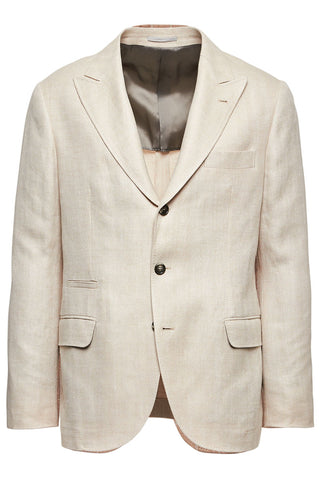 Chevron Herringbone Deconstructed Blazer