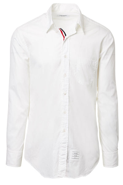 Striped Placket Oxford Shirt