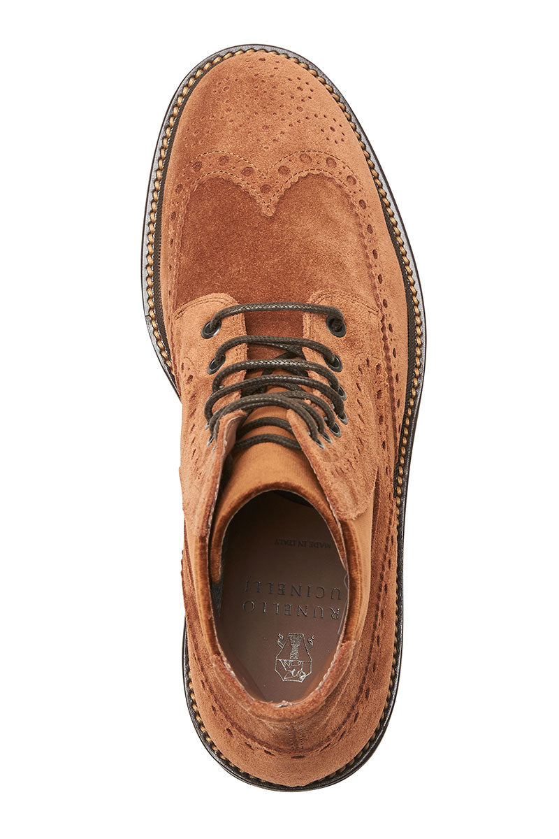 Brunello Cucinelli, Lace-Up Brogue Boots