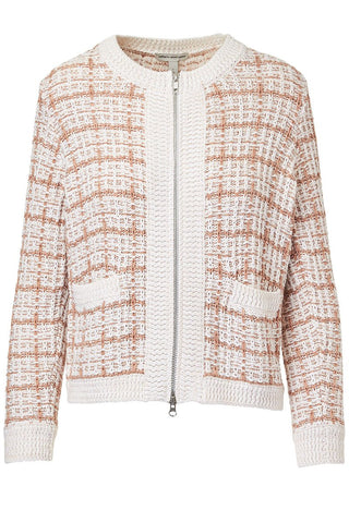 Autumn Cashmere, Texture Stitch Zip Jacket