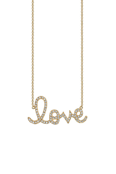Sydney Evan, Love Script Necklace
