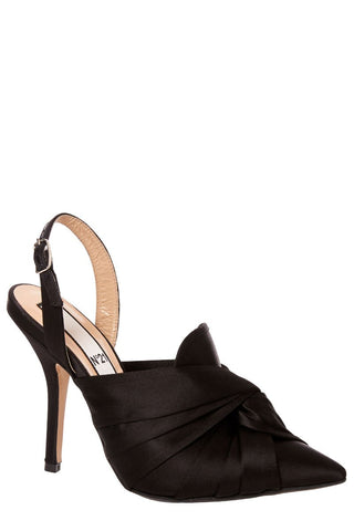 , Satin Knotted Pumps