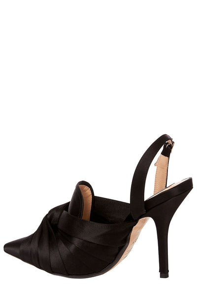 Satin Knotted Pumps