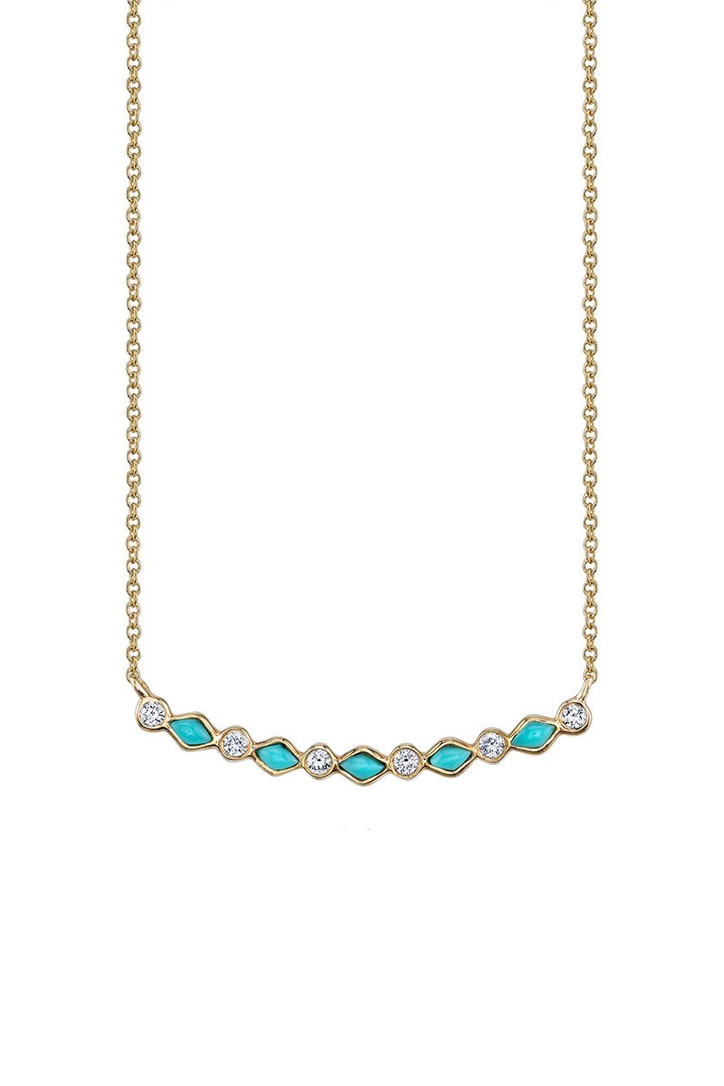 Sydney Evan, Bezel Bar Necklace