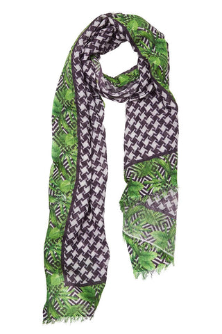 Palm Bordered Scarf
