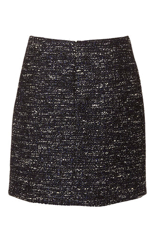 Tweed Wrap Mini Skirt
