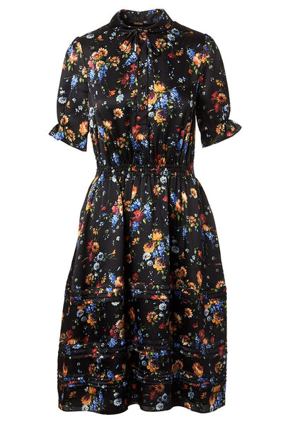 Adam Lippes, Floral Hammered Silk Dress