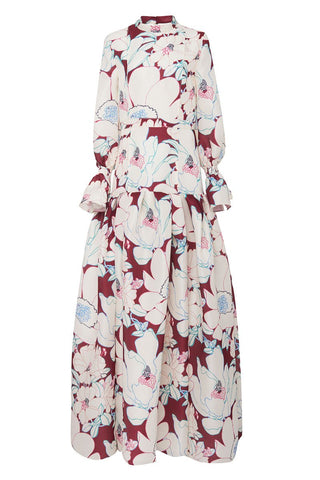 Carolina Herrera, Floral Drop Waist Gown