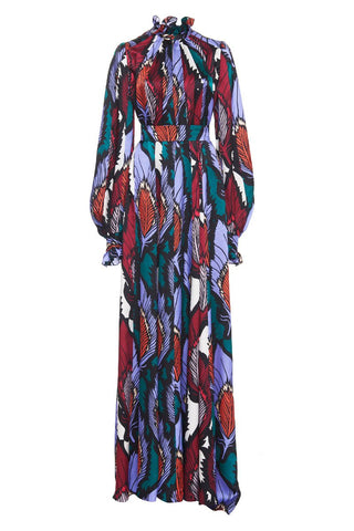 Carolina Herrera, Feather Print Gown