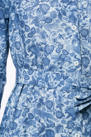 Floral Chambray Shirt Dress