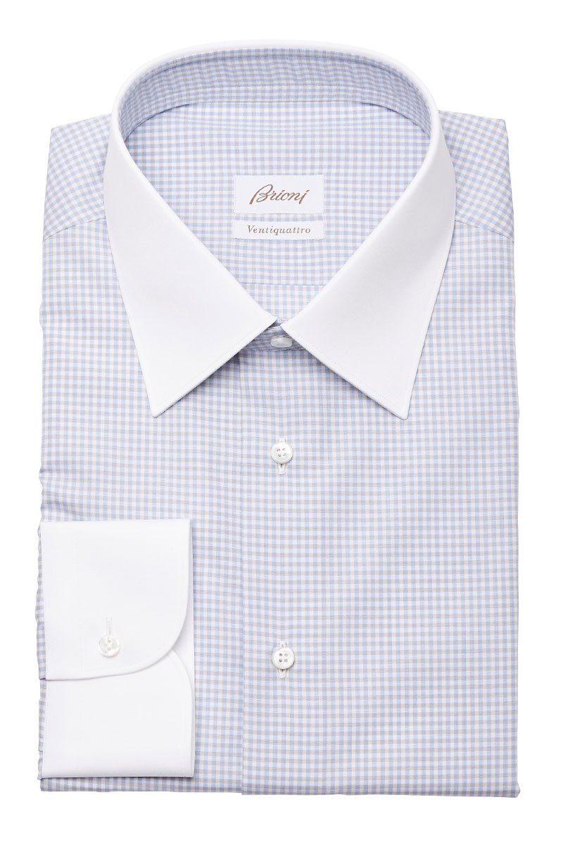 Brioni, Checked Dress Shirt