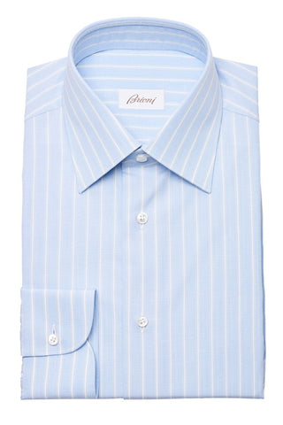 Brioni, Blue Stripe Dress Shirt